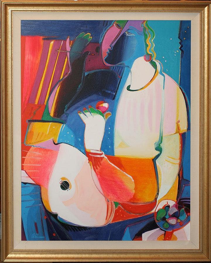 ALI GOLKAR, ACRYLIC, ABSTRACT, 1993, 48