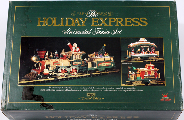 THE HOLIDAY EXPRESS ANIMATED TRAIN SET 1997