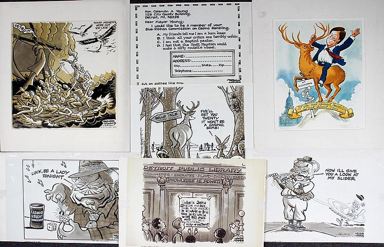 DRAPER HILL [1935-2009], POLITICAL CARTOONS, 7