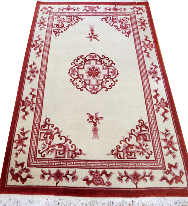 Red White Area Rug