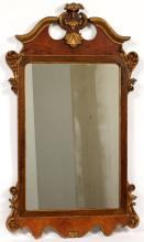 CHIPPENDALE STYLE MAHOGANY AND GILT MIRROR
