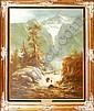 LUDWIG MUNNINGER [GERMAN 20TH C.], OIL ON CANVAS, C 1960, 40in X 30in, LANDSCAPE Signed lower left. Figures in a mountain landscape. Framed in a gilt wood frame.