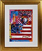 PETER MAX (AMER. B. 1937), MIXED MEDIA LITHOGRAPHY, 2001, 24