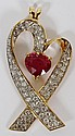 4.00CT ENHANCED RUBY & 3.00CT DIAMOND PENDANT, W 1
