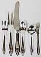 STERLING SILVER FLATWARE 38 PIECES