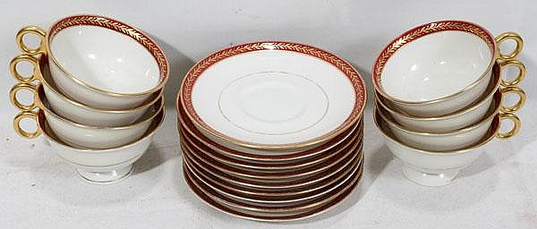 THEODORE HAVILAND-NEW YORK 'LAURIA' PORCELAIN CUPS