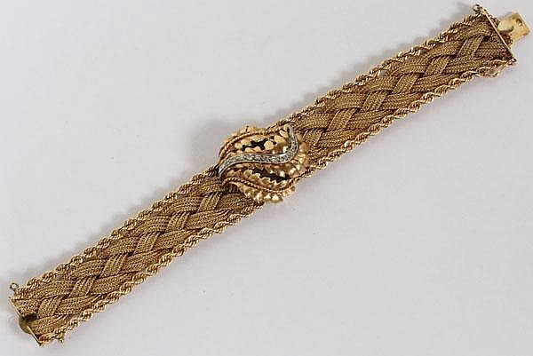 LAFOND LADIES 14KT GOLD AND DIAMOND WRIST WATCH