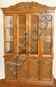 WALNUT CHINA CABINET, H 76