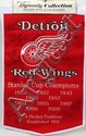 RED WINGS SIGNED ALUMNI BANNER, C 2002, H 36