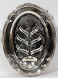 ENGLISH SILVER PLATE WELL AND TREE PLATTER, H 20