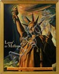 STATUE OF LIBERTY TIN SIGN, JOSEPH SCHLITZ BREWING CO, 1942, 28