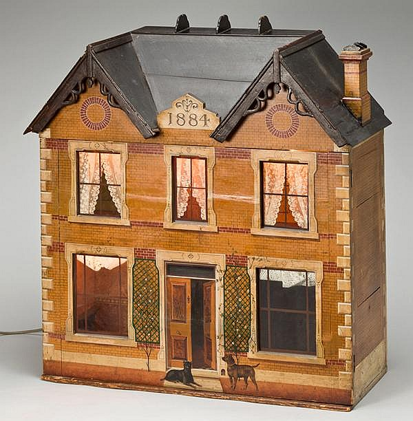 VICTORIAN DOLL HOUSE, DATED 1884, H 33