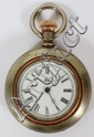 WALTHAM SILVER & GOLD POCKET WATCH, C. 1900