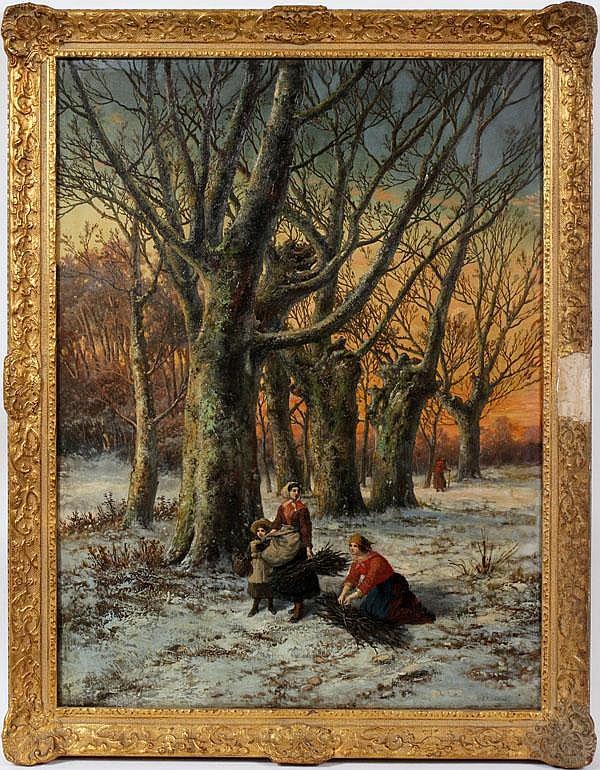 HENDRIK BAREND KOEKKOEK [DUTCH 1849 - 85] OIL ON