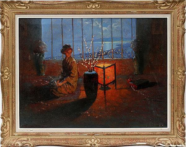 ENDRE KOMAROMI-KACZ [HUNGARIAN 1880-1969], OIL ON