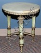 FRENCH TRADITIONAL STYLE GREEN ONYX TABLE, 20TH