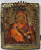 RUSSIAN ICON OF THE VLADIMIR MOTHER OF GOD, C. 1780, 12