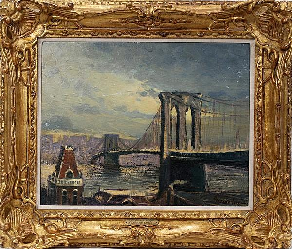 GEORGE BENJAMIN LUKS [US 1867-1933], OIL ON