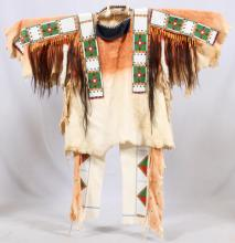 MINICONJOU SIOUX WAR SHIRT AND LEGGINGS
