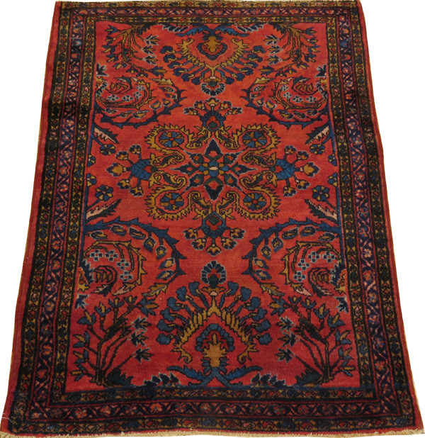 PERSIAN LILIHAN ANTIQUE HAND WOVEN WOOL RUG