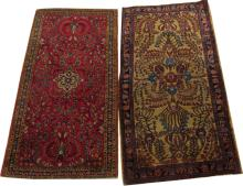 ANTIQUE PERSIAN SAROUK HAND WOVEN WOOL RUGS