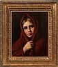 NIKOLAI Y. RACHKOV O/C PORTRAIT OF A YOUNG GIRL