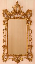 CHINESE CHIPPENDALE STYLE GILT MIRROR