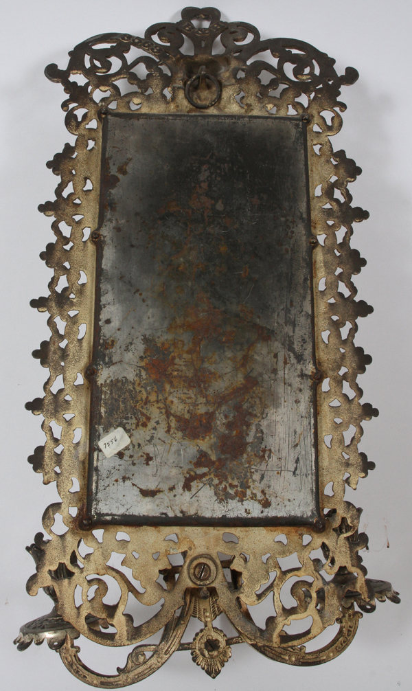 Bradley hubbard beveled mirror w candle holders for Bradley mirror