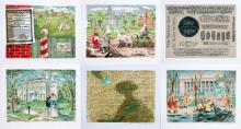 EMIL WEDDIGE PORTFOLIO OF 11 COLOR LITHOGRAPHS