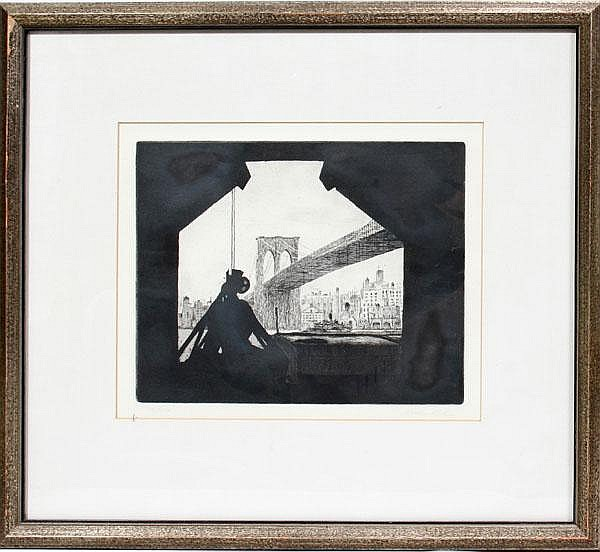 ARTHUR COHEN, AM B 1928 ETCHING 7