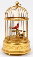 REUGE SWISS BRASS BIRD CAGE AUTOMATON/MUSIC BOX