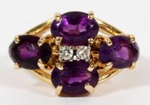 14KT GOLD AND AMETHYST RING