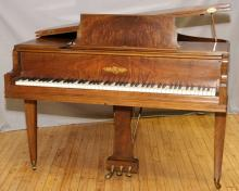 CHICKERING & SONS FLAME MAHOGANY GRAND PIANO