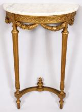 LOUIS XVI-STYLE GILT WOOD CONSOLE TABLE 20TH C.
