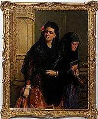 JOHN BAGNOLD BURGESS [BRITISH 1830-1897], OIL ON