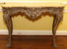 ITALIAN HAND CARVED CONSOLE TABLE