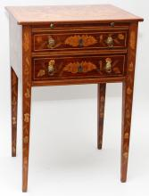 FRENCH FRUITWOOD MARQUETRY TABLE