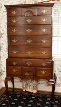QUEEN ANNE STYLE MAHOGANY HIGHBOY