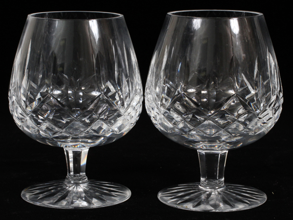 Waterford cut crystal cognac lismore 6 - Waterford cognac glasses ...
