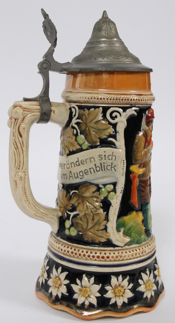 German Ceramic And Glass Beer Steins Music Boxes