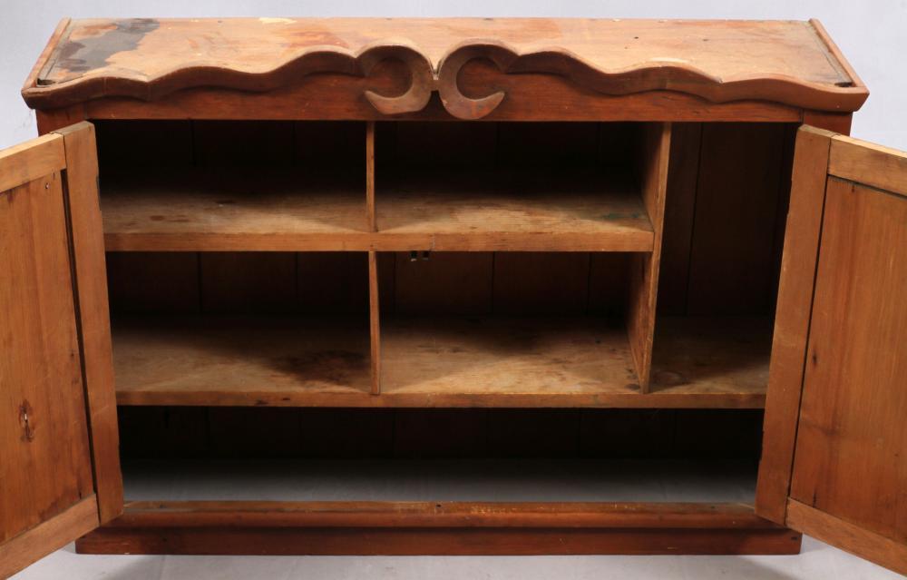 Astonishing Lot 1351 Antique Pine Wood Wall Cabinet Download Free Architecture Designs Remcamadebymaigaardcom
