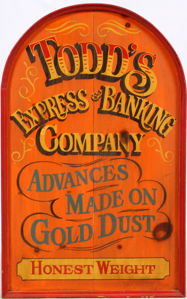 TODD'S EXPRESS & BANKING SIGN H 36