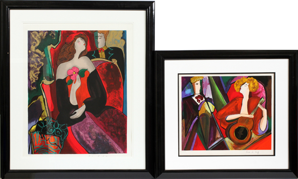 LINDA LE KINFF SIGNED SERIGRAPHS LATE 20TH C.