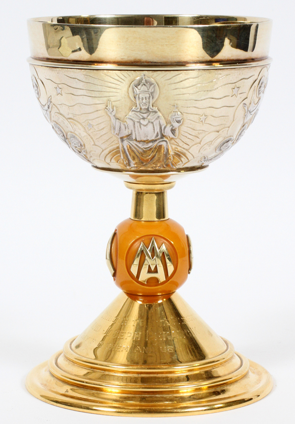 FRENCH SILVER AND GOLD WASH CHALICE C1940
