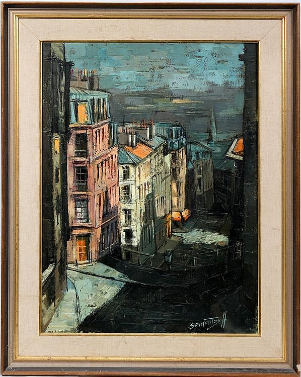 MICHEL SEMENTZEFF [FR 1933] OIL ON CANVAS 1961 29