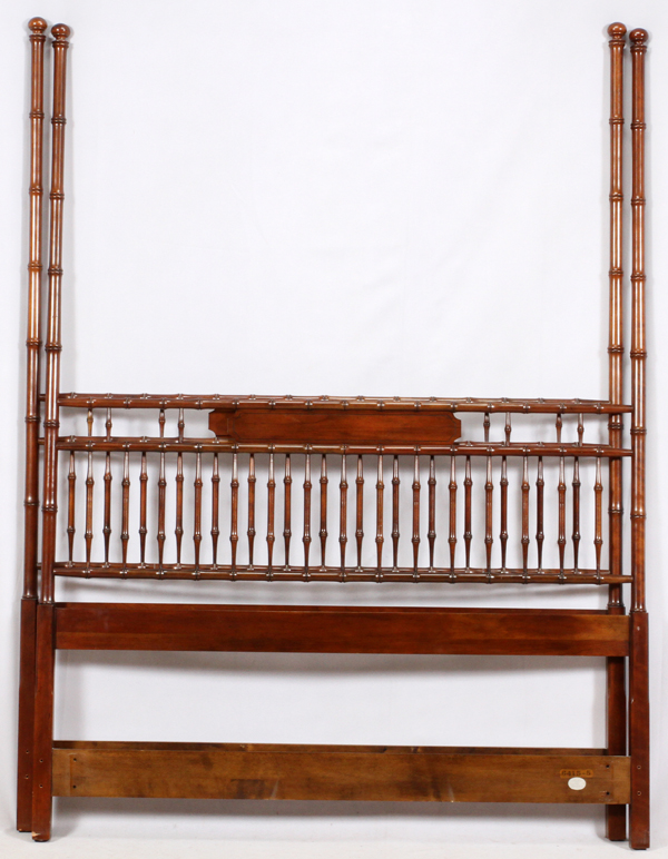 Baker Bamboo Style Four Poster Bed Frame