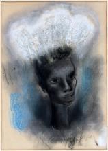 GEORGIA CARROLL PASTEL CIRCA 1930