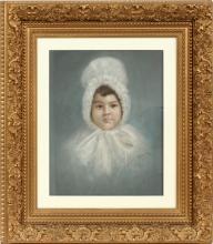 J.M. DENNIS PASTEL PORTRAIT 1886
