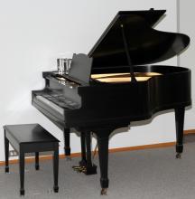 FISCHER BLACK EBONY BABY GRAND PIANO