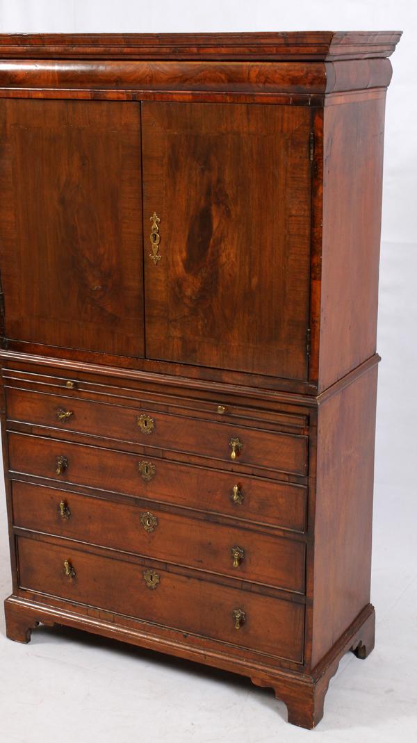 Antique Burl Wood Winthrop Style Secretary Desk